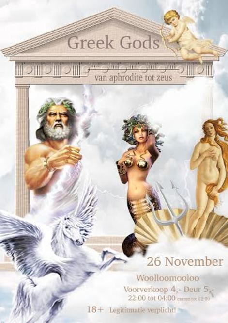 Large greek gods poster